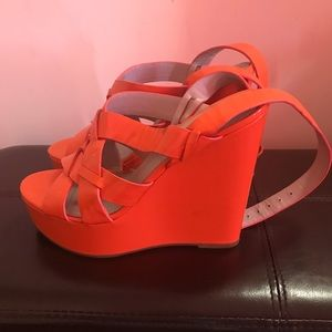 Cute orange Vera wang wedges